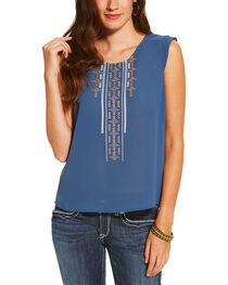 Ariat Women's Blue Italy Top, , hi-res