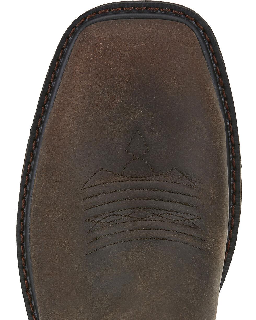 Ariat Men's Groundbreaker Steel Toe Western Work Boots, Brown, hi-res