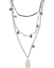 Shyanne® Women's Layered Gemstone Necklace, Cream, hi-res