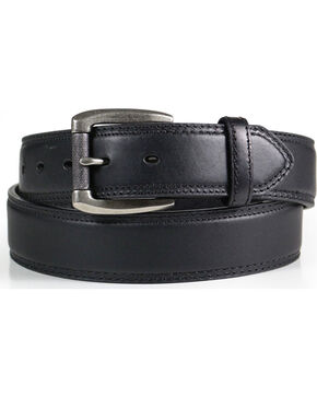 American Worker® Men's Classic Leather Belt, Black, hi-res