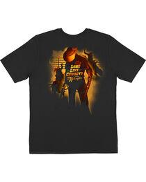 Wrangler Men's Black Long Live Cowboys T-Shirt , , hi-res