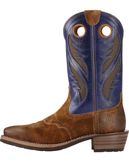 Ariat Men's VentTEK Roughstock Square Toe Western Work Boots, Copper, hi-res
