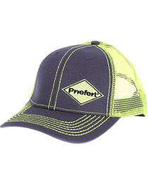 Priefert Men's Grey with Lime Green Accents Baseball Cap , , hi-res