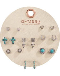 Shyanne Women's Turquoise Multi Earring Set     , , hi-res