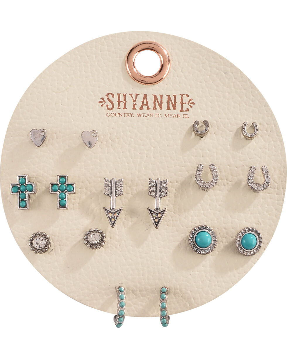Shyanne Women's Turquoise Multi Earring Set     , Turquoise, hi-res