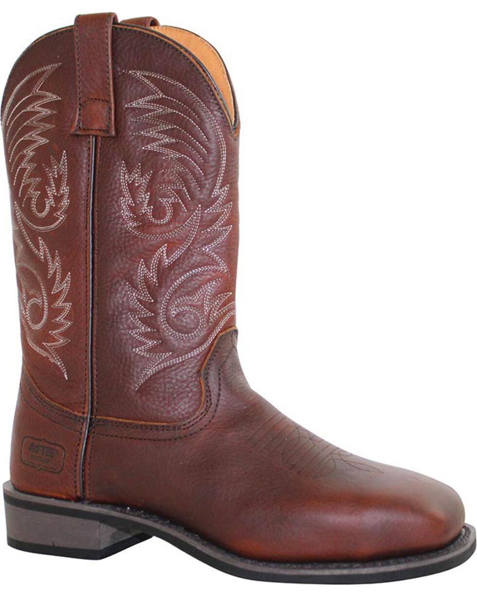 Ad Tec Men's Western Boots, Brown, hi-res