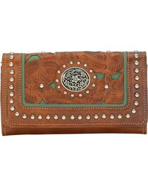 American West Women's Lady Lace Western Wallet, , hi-res