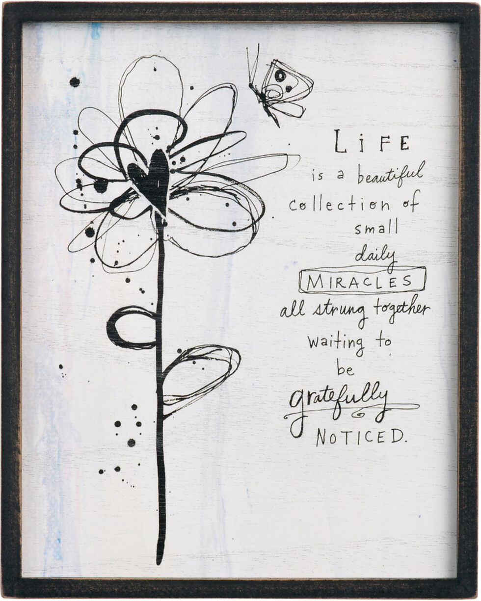 Demdaco Life Is Beautiful Small Miracles Wall Art , White, hi-res