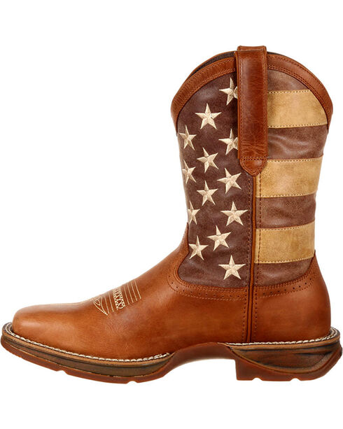 Durango Men's Faded Union Flag Western Boots, Brown, hi-res