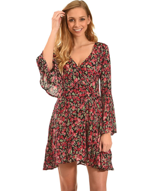 Rock & Roll Cowgirl Women's Floral A-Line Dress, Pink, hi-res