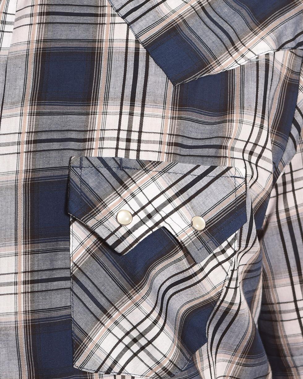Ely Cattleman Men's Blue Texture Plaid Short Sleeve Shirt , Blue, hi-res