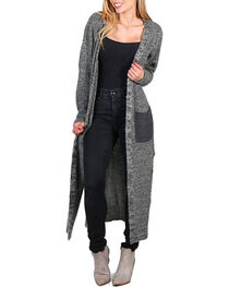 Petrol Women's Floor Length Open Cardigan, , hi-res