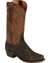 Lucchese Men's Exotic Shark Western Boots, , hi-res