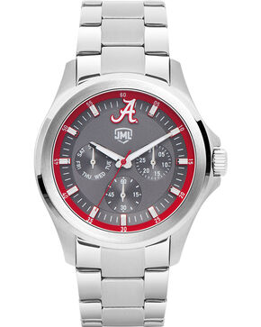 Jack Mason Men's Alabama Silver Multi-Function Watch , Silver, hi-res