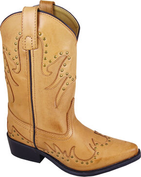 Smoky Mountain Youth Girls' Dolly Western Boots - Snip Toe , Brown, hi-res