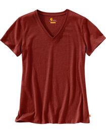 Carhartt Women's Lockhart Short Sleeve V-Neck T-Shirt, , hi-res