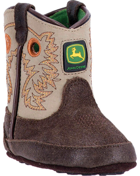 "John Deere Infant Boys' 3"" Pull On Boots , Brown, hi-res"