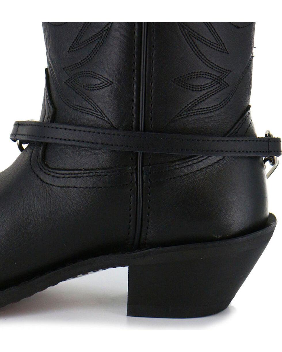 Almax Women's Rhinestone Stud Leather Boot Strap, Black, hi-res