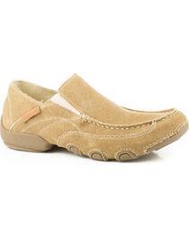 Roper Men's Tan Dougie Casual Driving Moc Shoes , , hi-res