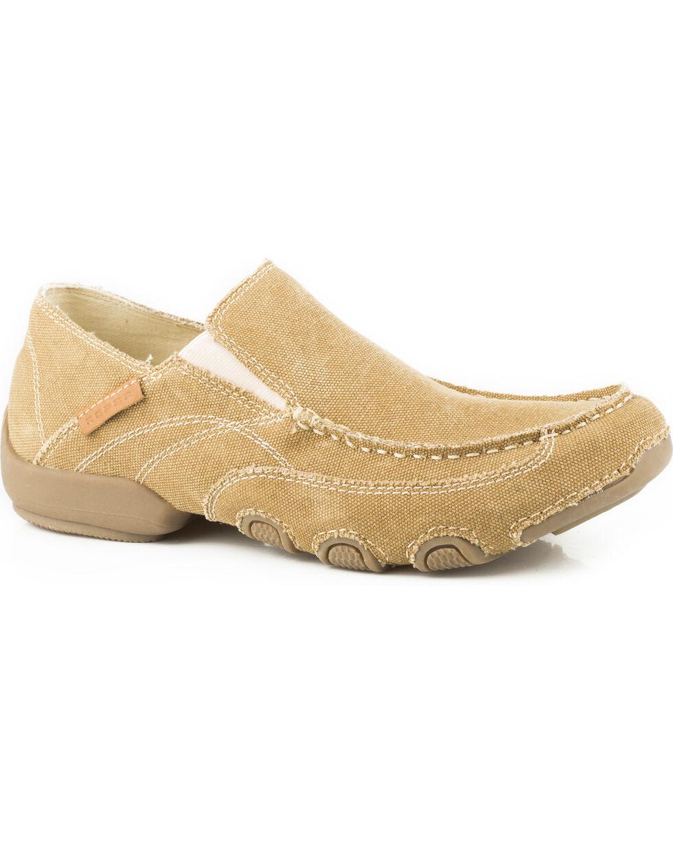 Roper Men's Tan Dougie Casual Driving Moc Shoes , Tan, hi-res