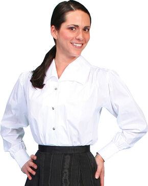 WahMaker by Scully Wide Lapel Blouse, White, hi-res