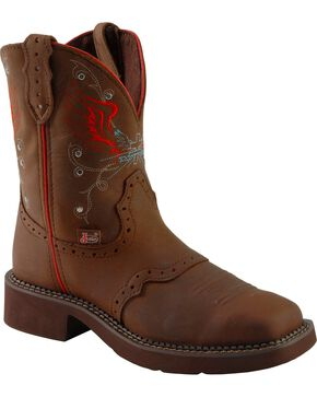 Justin Gypsy Women's  Square Toe Western Boots, Aged Bark, hi-res