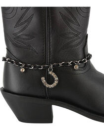 Shyanne® Women's Rhinestone Horseshoe Boot Bracelet, , hi-res
