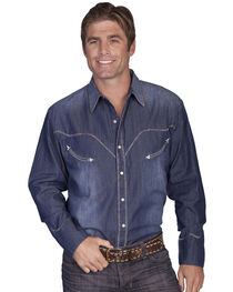 Scully Men's Long Sleeve Western Shirt, , hi-res