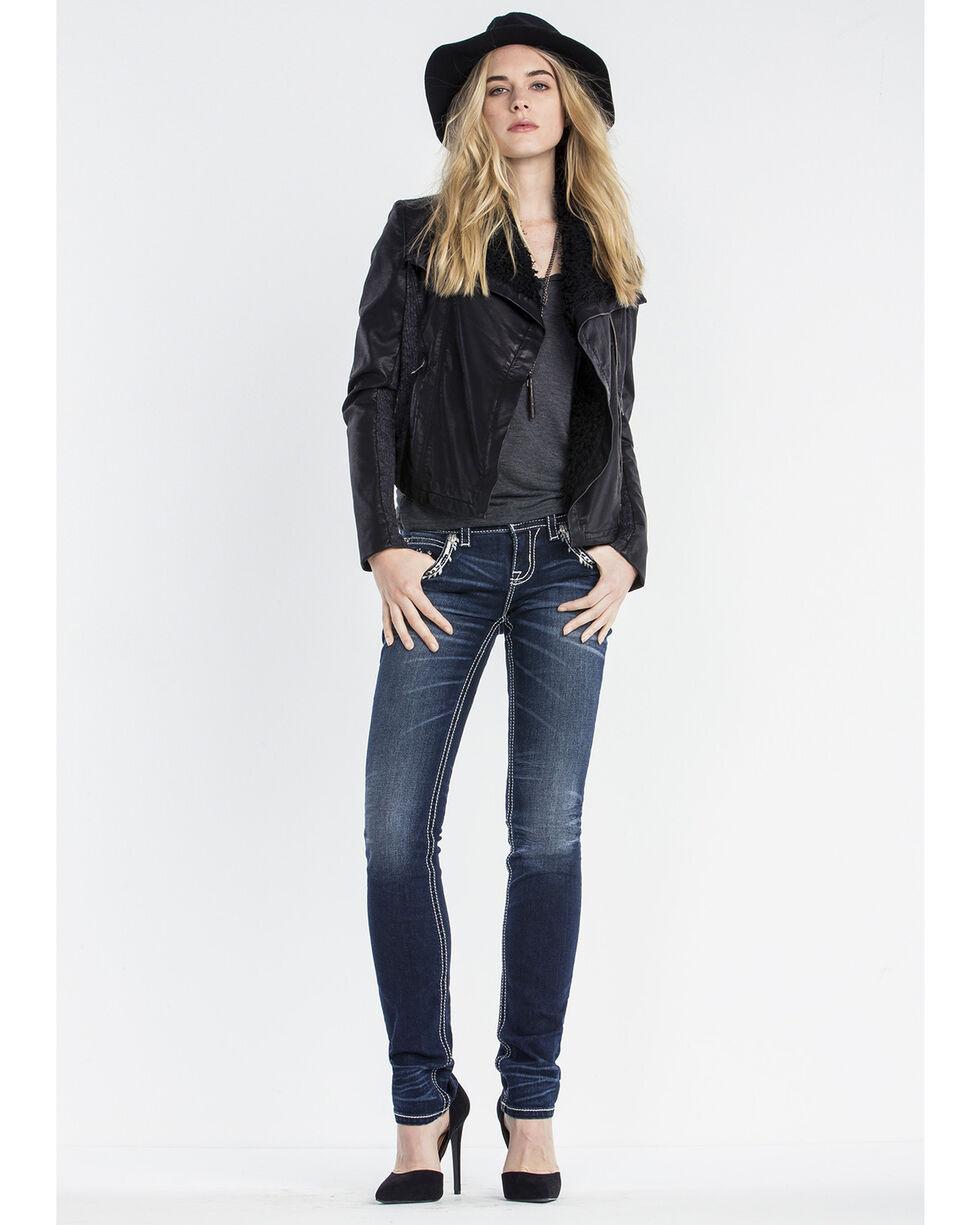 Miss Me Women's Leather Zip Jacket, , hi-res