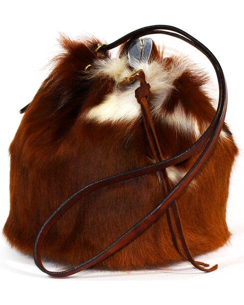 SouthLife Supply Women's Cowhide Drawstring Bucket Bag, Multi, hi-res