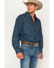 Cody James Men's Romal Geo Print Long Sleeve Button Down Shirt, , hi-res