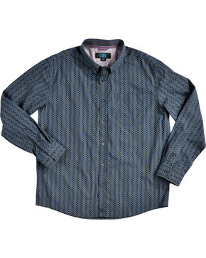 Cody James Men's Romal Geo Print Long Sleeve Button Down Shirt - Big & Tall, Navy, hi-res