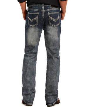 Rock & Roll Cowboy Men's Pistol Reflex Straight Leg Jeans, Indigo, hi-res