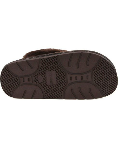 Lamo Footwear Women's Juarez Scuff Slippers, Chocolate, hi-res