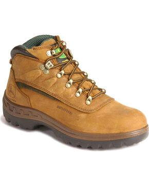 "John Deere® Men's WCT 5"" Waterproof Hiking Boots, Tan, hi-res"