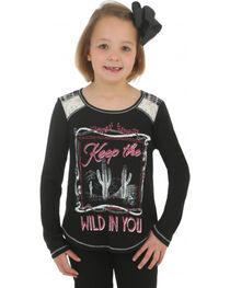 Wrangler Rock 47 Girls' Keep the Wild in You Tee, , hi-res