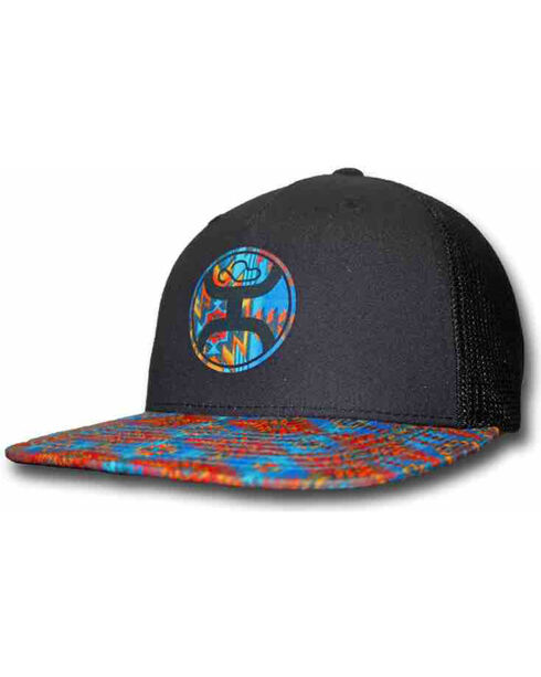 HOOey Men's Delirium Trucker Hat  , Black, hi-res