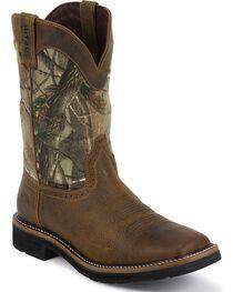 Justin Men's Waterproof Composite Toe Camo Work Boots, , hi-res