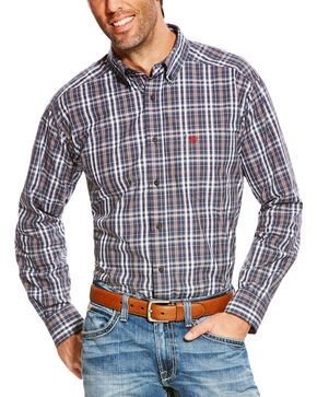 Ariat Men's Blue Pro Sereis Antioch Plaid Western Shirt - Tall , Blue, hi-res