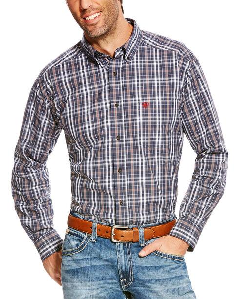 Ariat Men's Blue Pro Sereis Antioch Plaid Western Shirt - Tall , Blue, hi-res