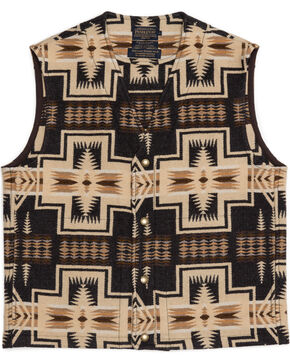 Pendleton Men's Taos Jacquard Vest, Brown, hi-res
