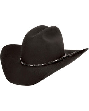Master Hatters of Texas Casino 3X Wool Felt Hat, Black, hi-res