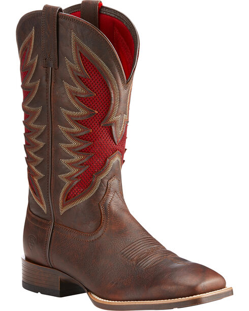 Ariat Men's VentTEK Ultra Quickdraw Cowboy Boots - Square Toe, Lt Brown, hi-res