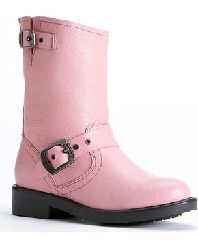 Frye Girls' Engineer Pull-on Boots, Pink, hi-res