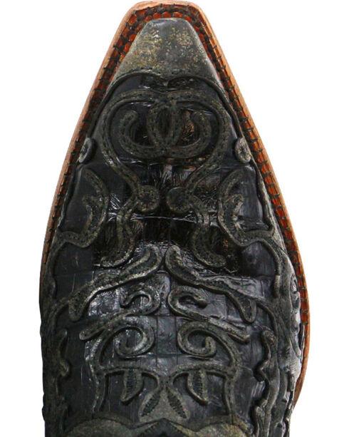 "Corral Men's 13"" Caiman Inlay Exotic Western Boots - Snip Tpe, Black, hi-res"