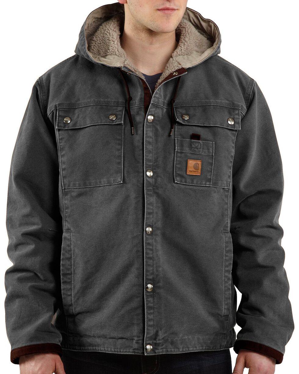 Carhartt Men's Sandstone Sherpa Lined Jacket, Grey, hi-res