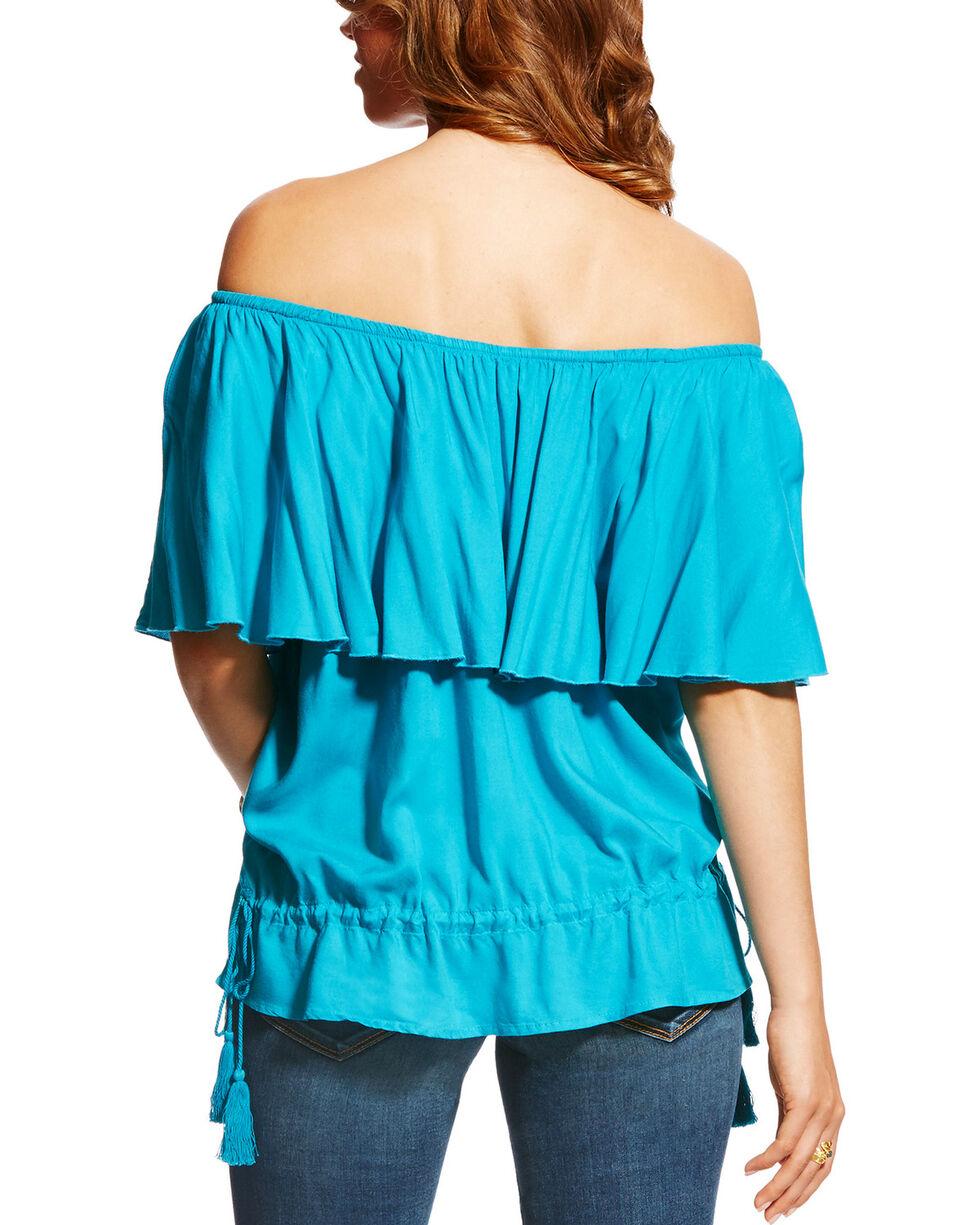 Ariat Women's Blue Carolina Top , Blue, hi-res