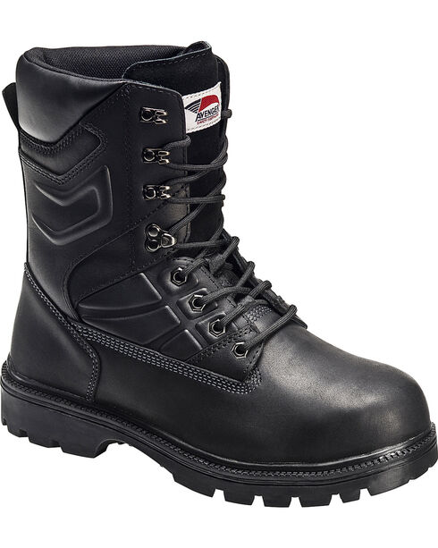 Avenger Men's Internal MetGuard Work Boots - Steel Toe, Black, hi-res