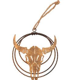 BB Ranch Laser Cut Metal Cow Skull Ornament, , hi-res