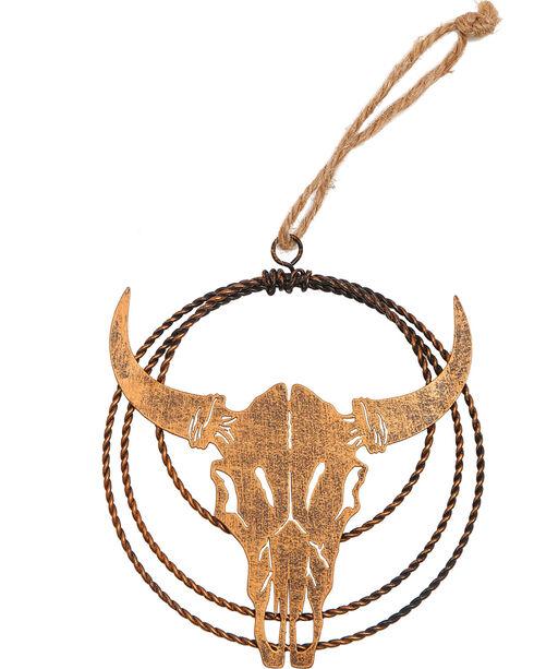 BB Ranch Laser Cut Metal Cow Skull Ornament, No Color, hi-res